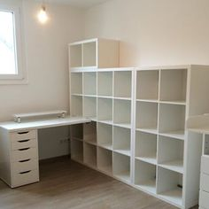 only the last three pieces - drawers, table with shelf and 4x2kallax will be enough!