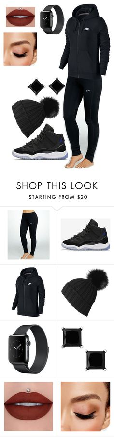 """""""Untitled #4846"""" by originaltwfan ❤ liked on Polyvore featuring NIKE, Black and Avon"""