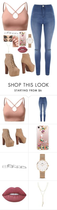 """""""Untitled #75"""" by heelobsession ❤ liked on Polyvore featuring J.TOMSON, Jane Norman, Jeffrey Campbell, Casetify, Kendra Scott, Daniel Wellington, Lime Crime and Bloomingdale's"""