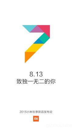 Ini resmi, Xiaomi MIUI 7 akan dirilis tanggal 13 Agustus 2015