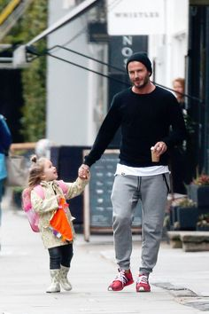 David Beckham spotted with his daughter looking so #Swavy! #style
