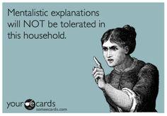 mentalistic explanations