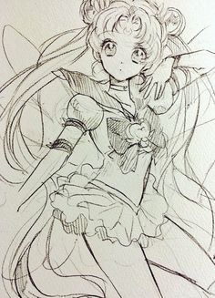 eternal sailor moon by むきえび Arte Sailor Moon, Sailor Moon Fan Art, Sailor Moon Usagi, Sailor Jupiter, Sailor Moon Crystal, Sailor Mars, Moon Sketches, Drawing Sketches, Drawings
