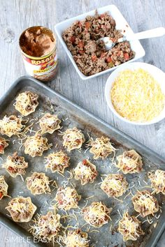 Mini Taco Cups :: Easy to make - easy to eat! Great for any occasion! #tacocups #minitacos
