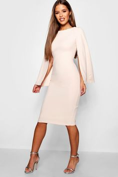 Going Out Outfits – Lady Dress Designs Petite Outfits, Petite Dresses, Midi Dress With Sleeves, Dress Up, Cape Dress, Cape Sleeve Dress, Dress Long, Simple Dresses, Casual Dresses