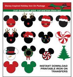 Disney Navidad hierro inspirado en por IronItOnWithLove en Etsy