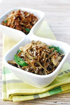 These stir-fried anchovies are a popular side dish in Korea. If you remember from my Anchovy Stock for Korean Cooking post, dried anchovies (myulchi/myeolchi) are a staple in Korean kitchens. Medium to large anchovies are primarily used to make stock, and smaller ones are used to make a variety of side dishes. Because they are an excellent …