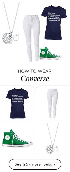"""""""Back to school"""" by ioanamary on Polyvore featuring Converse and Disney"""
