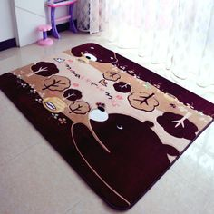 cute 150x200cm EMS Large Size Anti-slip Floor Mats Soft Carpet Area Rugs for Parlor Corridor Living Room Bedroom Home Supplies