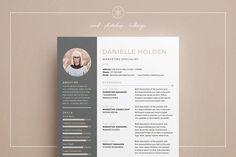 Resume/CV | Danielle by Keke Resume Boutique on @creativemarket