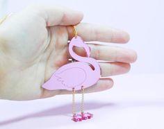 Mirrored Flamingo Necklace