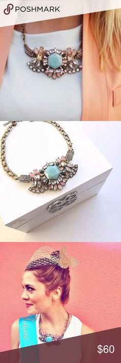Beautiful J. crew statesmen necklace. Paste gems, gorgeous necklace! In excellent condition :) J. Crew Jewelry Necklaces