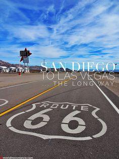American Road Trip – San Diego to Las Vegas… the long way