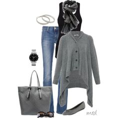 "Looks cozy and comfy! ""Shades of Grey"" by michelled2711 on Polyvore"