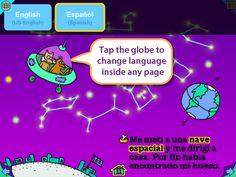 Ruff's Bone - showing the dynamic language selection.