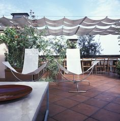 see patio shading w wire and cloth
