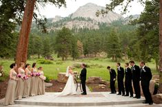 Mountain side wedding