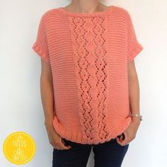 Pull June - Tricot Poncho Tricot, Tricot Gilet, Tricot Femme, Tricot Et  Crochet 5719562465fc