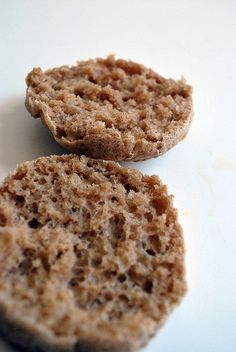 English muffins GF, Vegan: .5 c sorghum flour, .25 c teff flour, .5 c tapioca starch, .25 c potato starch, 1 t xanthan gum, .5 t salt, 1 T sugar, 1 T yeast, 1 t olive oil, .75 c plus 1 T hot water (110*): mix dry, add oil & water, cornmeal on bottom of rings, let rise 20 min, bake 375 15min