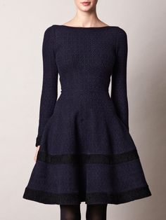 Navy blue dress that would look great under a full skirted trench coat