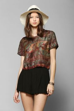 Staring At Stars Scarf Cropped Top #UrbanOutfitters
