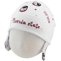 New Era Florida State Seminoles (FSU) Infant White Ski Knit Baby Beanie
