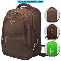 Tas Punggung / Backpack Polo Milano 88088 - Coffe HHWE