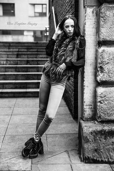 Black and white fashion in liverpool