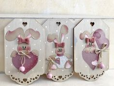 Arte Country, Country Crafts, Ester Crafts, Wood Crafts, Diy And Crafts, Elephant Crafts, Country Paintings, Tole Painting, Easter Bunny