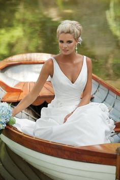 This dress is dreamy and sitting in a boat? I truly love it