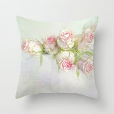 bouquet of roses Throw Pillow by Lizzy Pe -