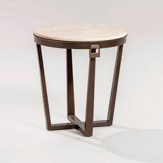 Bolero end table 100-101-102 - Wood top - Leather top - ADRIANA HOYOS FURNISHINGS