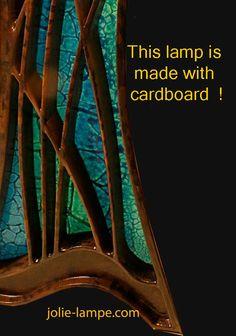 a cardboard lamp