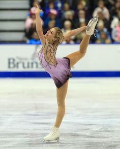Gracie Gold, 2013 Skate Canada, Pink Figure Skating / Ice Skating dress inspiration for Sk8 Gr8 Designs. Designed by Action Fabrics.