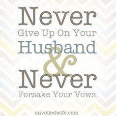 Don't Give Up On Your Marriage --- Do you sometimes feel like giving up on your marriage? I know that I have felt like giving up at least once in my marriage. Every wife needs encouragement for marriage!  Some may seriously be contemplating divorce, while others just […]… Read More Here https://unveiledwife.com/dont-give-up-on-your-marriage/