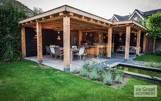 Backyard Plan, Backyard Patio Designs, Garden Log Cabins, Indoor Outdoor, Outdoor Living, Gazebo, Pergola, Outside Bars, Modern Garden Design