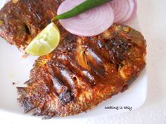 Grilled Fish (Karimeen/Pearlspot) | Cooking Is Easy