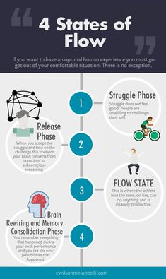 4 States of Flow Infographic