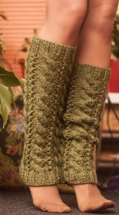Leg Warmers Knit Boot Cuffs Hand Knitted Boot by LoveKnittings