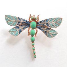 Adamarina - Adamarina Brosche Libelle #31