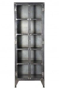 Iron Glass Almirah Display Cabinet Bookcase, Dining Room, Shelves, Display, Cabinet, Glass, Iron, Home Decor, Style
