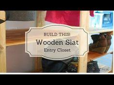 DIY Wooden Slat Entr