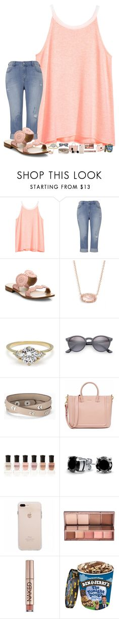 """""""ILoveYou; i wrote it with no spaces so there's no room for anyone else."""" by thatonelakyn ❤ liked on Polyvore featuring H&M, Jack Rogers, Kendra Scott, Ray-Ban, Stella & Dot, Deborah Lippmann, Bling Jewelry and Urban Decay"""
