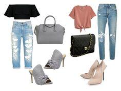 """Look do Dia"" by maispoderosa on Polyvore featuring moda, Daya, Casadei, Levi's, Givenchy e Chanel"