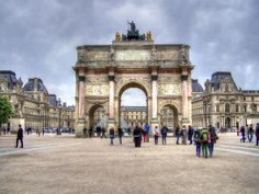 Paris, the cosmopolitan capital of France, is one of the largest agglomerations in Europe, with Paris from Mapcarta, the free map. Carrousel, Triomphe, Arc, Louvre, Europe, France, Building, Travel, Viajes