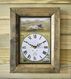 The Handmade Furniture Company Rustic Lurcher Handmade Wooden Wall Clock, £19.99