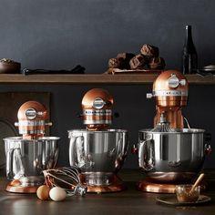 KitchenAid® Artisan Mini Stand Mixer with Flex Edge Beater, Copper Mini Kitchen, Red Kitchen, Kitchen Items, Kitchen Colors, Kitchen Gadgets, Kitchen Decor, Kitchen Appliances, Kitchen Hacks, Kitchen Cabinets