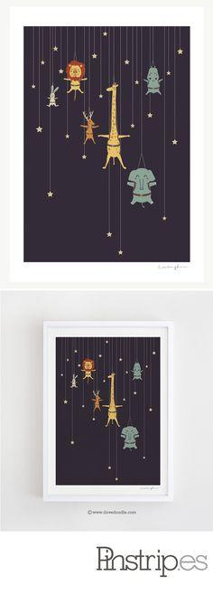 """I'm Like A Star"" art print of illustration by Lim Heng Swee aka ilovedoodle"