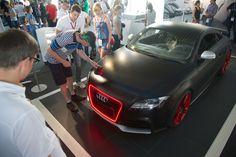 @Audi_Press Matte Black Audi TT RS at the Formula Student 2012.