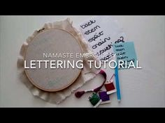 Hand Embroidered Lettering – Namaste Embroidery